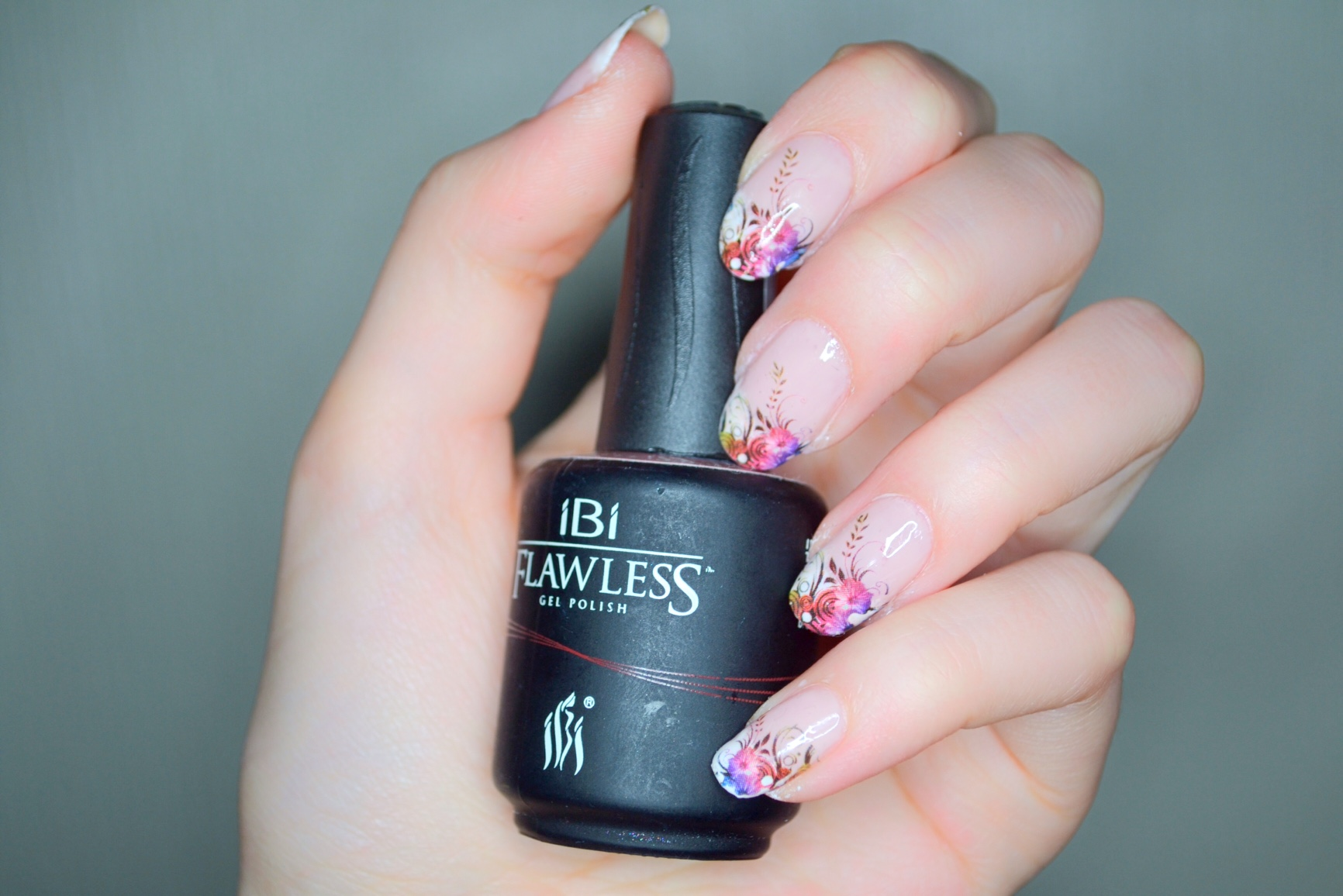 Flower french gel nail manicure beauty conspirator enjoy this beautiful gel nail polish manicure for at least two weeks izmirmasajfo